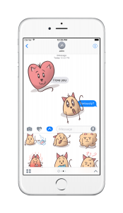 Stickers - iOS10 - Marshmallow Cat