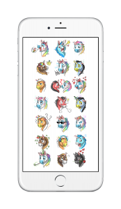 Stickers - iOS10 - Unicorn Family