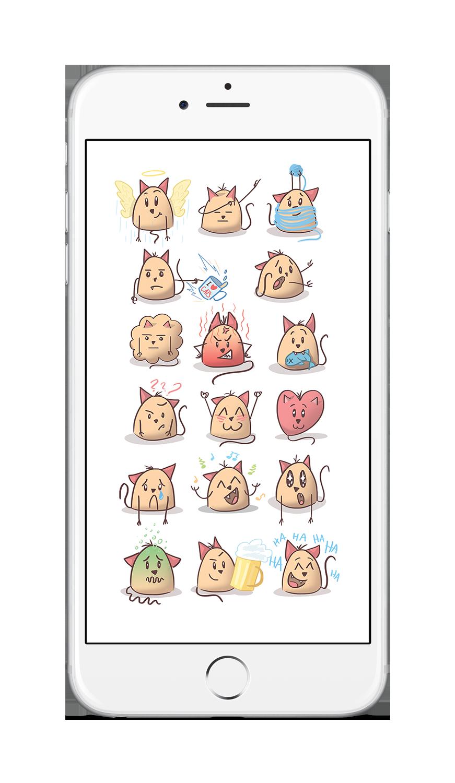 Stickers - iOS10 - Marshmallow Cat